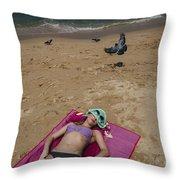 Pattaya Beach Throw Pillow