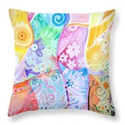 Pattern And Form I Throw Pillow