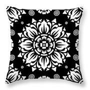 Pattern Art 01-1 Throw Pillow by Bobbi Freelance