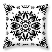 Pattern Art 01-2 Throw Pillow by Bobbi Freelance