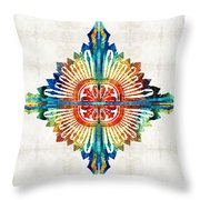 Pattern Art - Color Fusion Design 1 By Sharon Cummings Throw Pillow