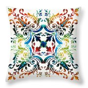 Pattern Art - Color Fusion Design 7 By Sharon Cummings Throw Pillow