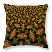 Pattern Brown With Green Throw Pillow
