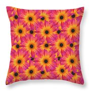 Pattern Of African Daisies Throw Pillow