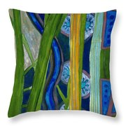 Pattern Out Of Grass And Stems And More  Throw Pillow