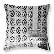 Pattern Recognition Palm Springs Throw Pillow