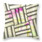 Pattern Tiles Abstract Throw Pillow
