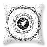 Pattern With Roses Throw Pillow