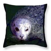 Patterned Seal Throw Pillow