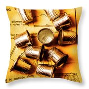 Patterns And Thimbles Throw Pillow