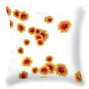 Patterns From Flowers Throw Pillow