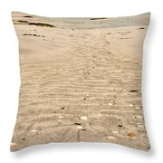Patterns In The Sand Throw Pillow