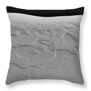 Patterns In The Snow Bw  Throw Pillow
