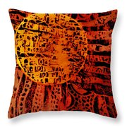 Patterns In The Sun Throw Pillow