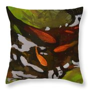 Patterns Of Green And Gold Throw Pillow