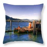 Patterson Bridge Oregon Throw Pillow