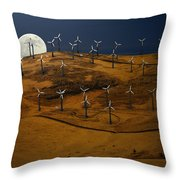 Patterson Pass Wind Farm Throw Pillow