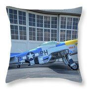 Paul 1 P-51d Mustang Throw Pillow