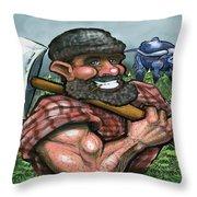 Paul Bunyan Throw Pillow