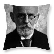 Paul Ehrlich, German Immunologist Throw Pillow by Science Source