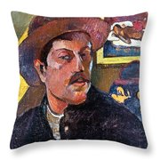 Paul Gaugin (1848-1903) Throw Pillow