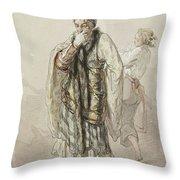 Paul Gavarni French, 1804-1866 Actors Throw Pillow