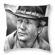 Paul Hogan Throw Pillow
