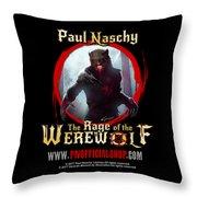 Paul Naschy - The Legacy - Logo 2 Throw Pillow