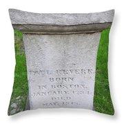 Paul Revere Grave  Throw Pillow