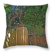 Paul Revere Rides In Boston-massachusetts  Throw Pillow