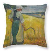 Paul Serusier 1864 - 1927 Breton Young To Sickle Throw Pillow