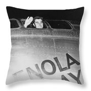 Paul Tibbets In The Enola Gay Throw Pillow