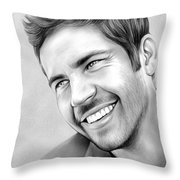 Paul Walker Throw Pillow