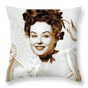 Paulette Goddard, Hollywood Legend Throw Pillow
