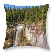 Paulina Creek Falls From The Top Throw Pillow