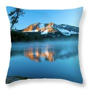 Paulina Peak In Paulina Lake Throw Pillow