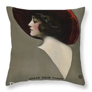 Pauline Frederick In Paid In Full 1919 Throw Pillow