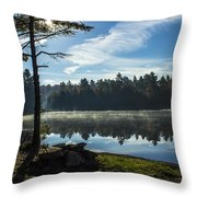 Pauper Lake Morning Throw Pillow