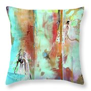 Pause In The Reconstruction Of Doubt  Throw Pillow