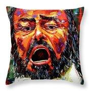 Pavarotti Throw Pillow