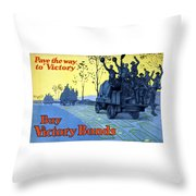 Pave The Way To Victory Throw Pillow by War Is Hell Store