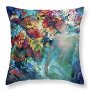 Pavetrulya - The Daughter Of The Forest King Throw Pillow