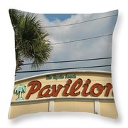 Pavilion With Palm Throw Pillow