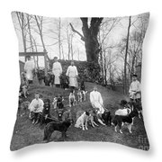 Pavlovs Dogs With Their Keepers, 1904 Throw Pillow