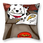 Paw Artist Give Generously Throw Pillow