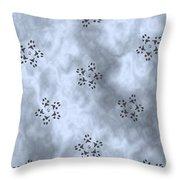 Paw Print Snowflake Stars - Blue/grey Throw Pillow