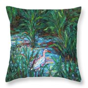 Pawleys Island Egret Throw Pillow