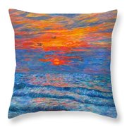 Pawleys Island Sunrise In The Sand Throw Pillow