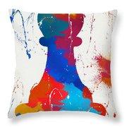 Pawn Chess Piece Paint Splatter Throw Pillow