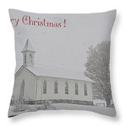 Pawpaw Church Christmas Throw Pillow